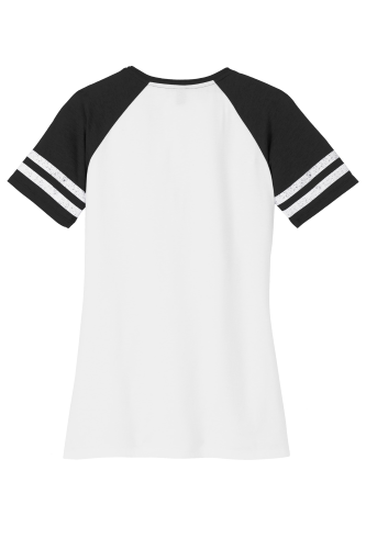 District Made Ladies Game V-Neck Tee back Image