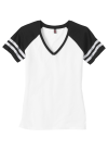 District Made Ladies Game V-Neck Tee front Thumb Image