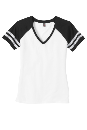 District Made Ladies Game V-Neck Tee front Image