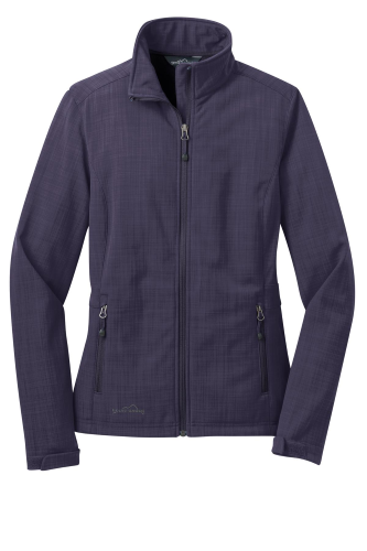 Ladies Shaded Crosshatch Soft Shell Jacket front Image