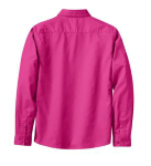 Coal Harbour® Ladies' Long Sleeve Easy Care Shirt back Thumb Image