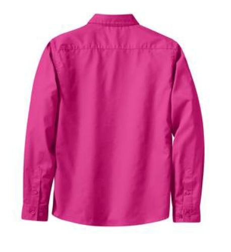 Coal Harbour® Ladies' Long Sleeve Easy Care Shirt back Image