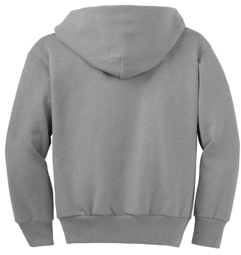 NEW! ATC™ EVERYDAY FLEECE FULL ZIP YOUTH HOODED SWEATSHIRT back Image