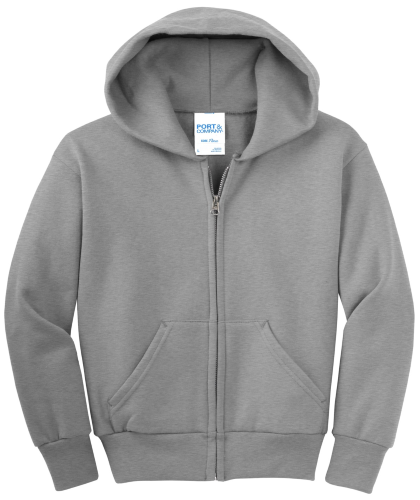 NEW! ATC™ EVERYDAY FLEECE FULL ZIP YOUTH HOODED SWEATSHIRT front Image
