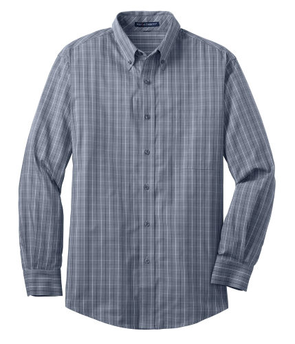 Coal Harbour® Tattersall Check Woven Shirt front Image